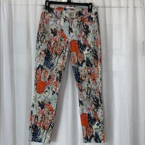 7 For All ManKind Floral Print Skinny Jean Pants27